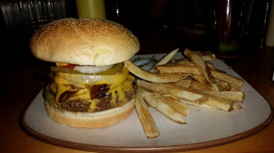 Polaris, MT: BBQ burger and fries from the restaurant