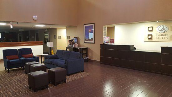Comfort Suites Airport: Comfortable lobby