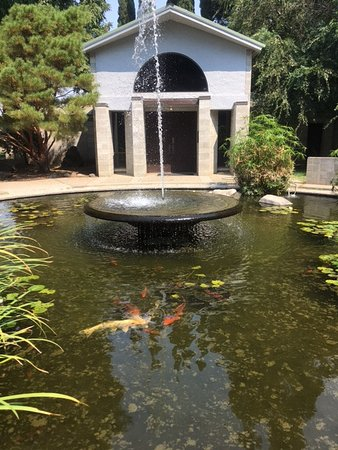 Vina, CA: The Koi Pond Fountain and Chapel