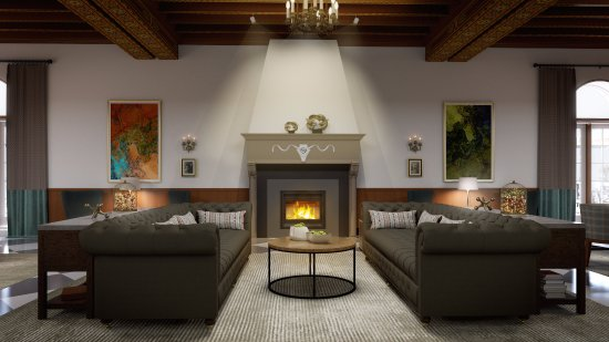 Saranac Lake, Estado de Nueva York: Great Hall Fireplace