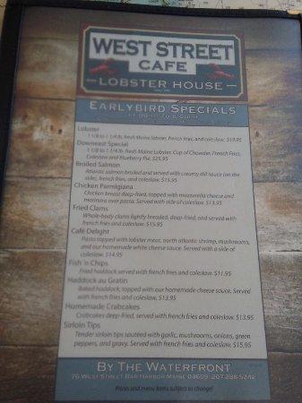 West Street Cafe: Specials