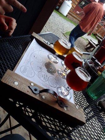 Denali Brewing Company: Beer flight