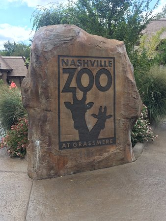 Nashville Zoo : At the entrance to the zoo.