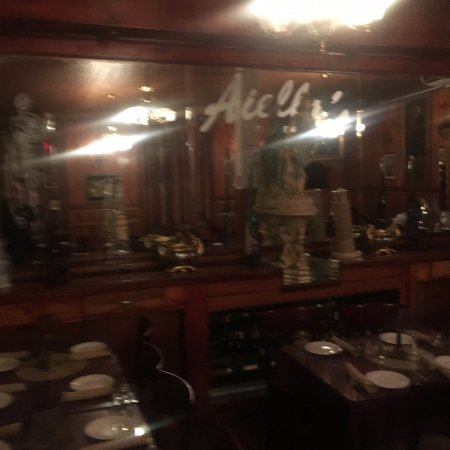 another, albeit blurry shot of dining room