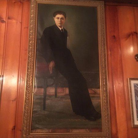Aiello's Ristorante: an oil portrait in the dining room