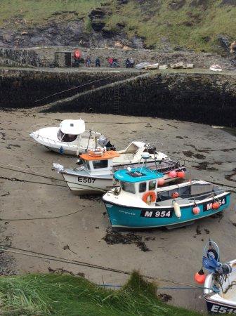 Boats at boscastle