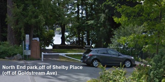 Langford Lake north side access - off of Shelby Place (off of Goldstream Ave)