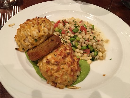 Easton, MD: CLASSIC CRAB CAKE DINNER WITH FRESH SOCCOTASH
