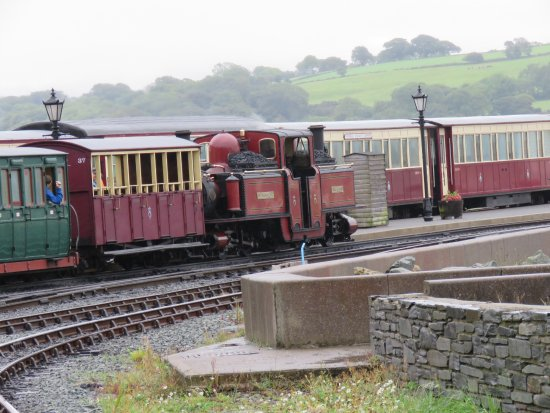 "Porthmadog, UK: An unusual engine the ""Double -Fairlie"