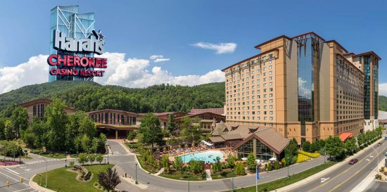 Harrah's Cherokee Casino is located in Cherokee near the Holiday Inn Express & Suites in Sylva