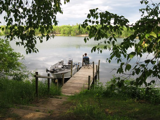 Osage, MN: fishing from the dock