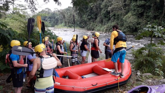 La Virgen, Kosta Rika: Sarapiqui River the biggest and cleanest of the area for white water rafting