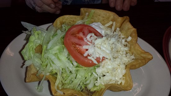 Cosby, TN : Taco salad with ground beef with an addition of  chili relleno