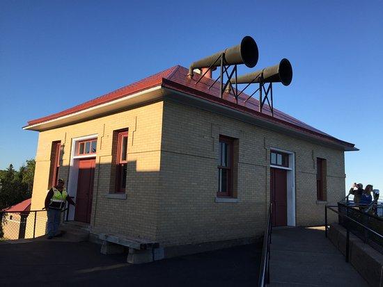Two Harbors, MN: fog horn building