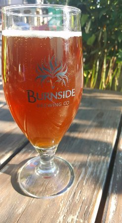 Burnside Brewing Company: Cannonball... Wheat Wine 8.3% ABV 29 IBU. Pilsner. DELISH!
