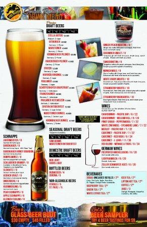 Drinks Menu Old World German Bar & Restauarant
