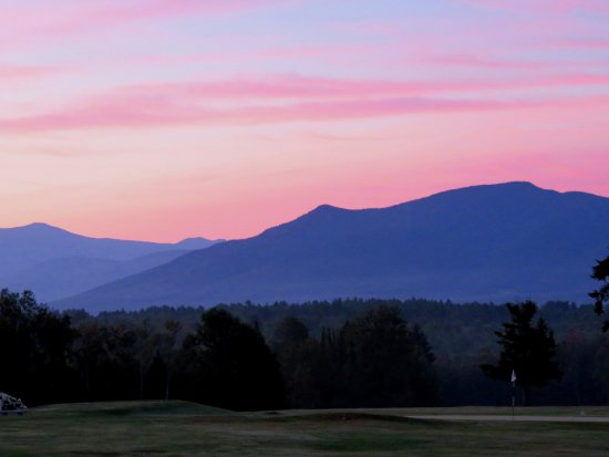 Whitefield, NH: View from front porch of Hotel at 5:30 AM