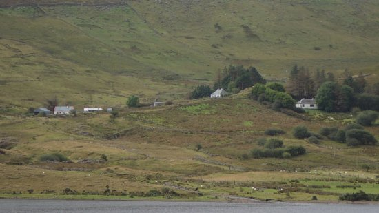 Shanafaraghaun, Ireland: across the loch to the mountain