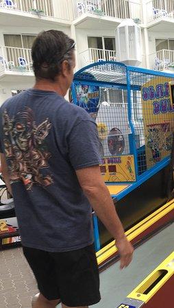 Princess Royale Resort: Skeeball competition, yes, I won, lol.