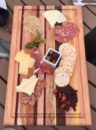 AC Hotel Asheville Downtown Charcuteri/cheese plate. (rooftop bar tapas menu) & Charcuteri/cheese plate. (rooftop bar tapas menu) - Picture of AC ...