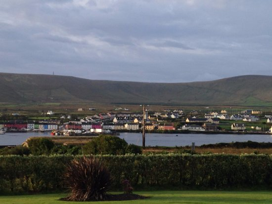 Valentia Island, Ireland: Portmagee from the garden of Carraig Liath House