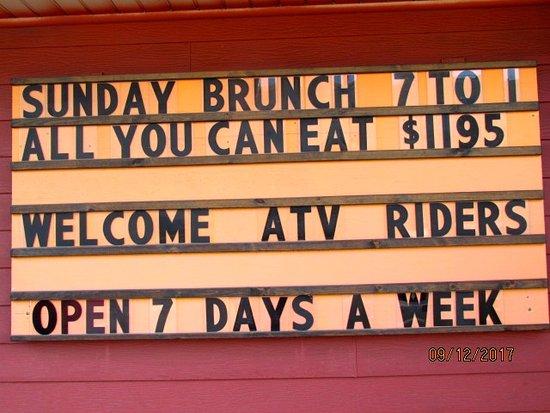 Welsh's Restaurant: Sign