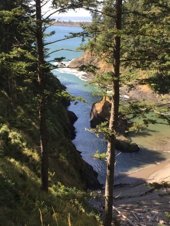 Ilwaco, วอชิงตัน: Deadman's Cove on the hike Cape Disappointment Lighthouse