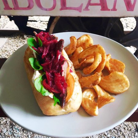 Mareeba, Australia: Specials changing weekly! Beetroot Relish Baguette