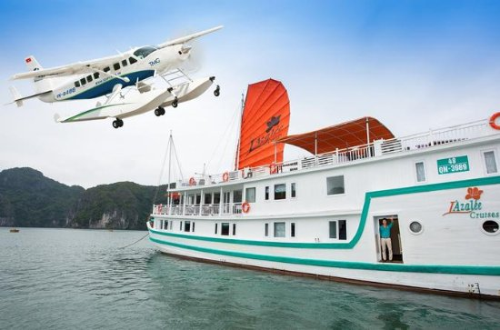 2-day Halong Bay Seaplane Flight and L'Azalee Overnight Cruise from...