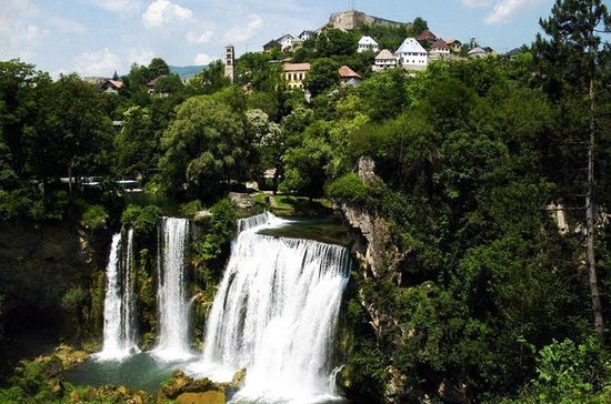 Jajce with Pliva lakes and Travnik...