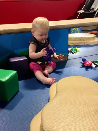 Children's Hands-On Museum of Tuscaloosa: The farm area was a hit for my 8-month old crawler!