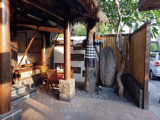Omang Omang Bar Diner: Driftwood Surfboard.