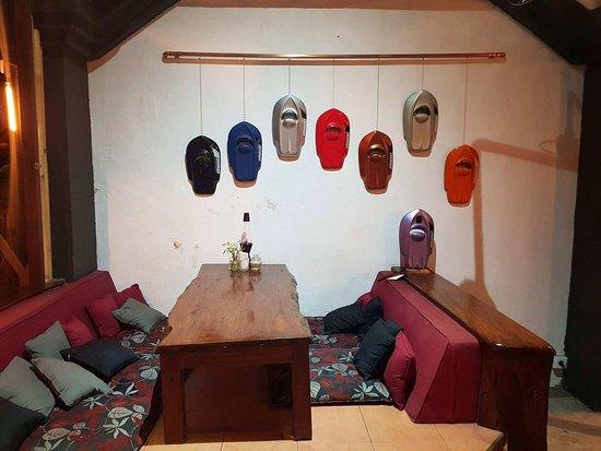 Omang Omang Bar Diner: Handski's on the Wall.