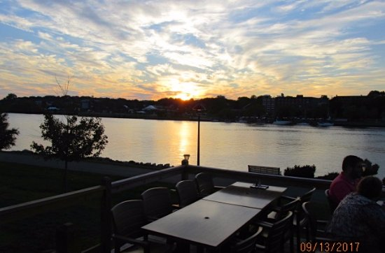 High Tide: Sunset from patio