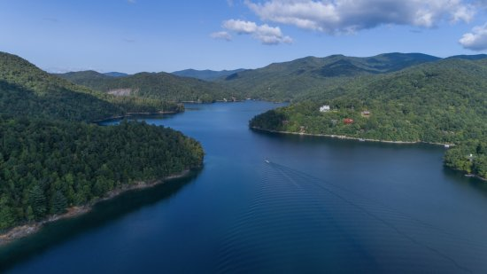 Topton, NC: While out on Lake Nantahala, I took some aerial images