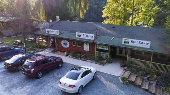 Topton, NC: Front entrance of the Marina & Grill