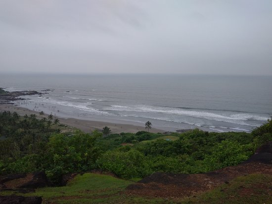 Chapora, Indien: View from top - Vagator beach
