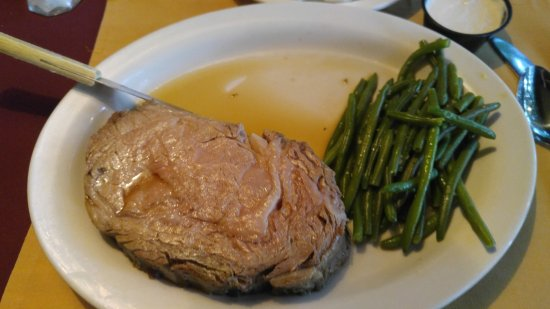 Beech Mountain, Karolina Północna: Prime Rib with green beans