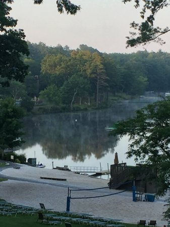 Woodloch Pines Resort: Taken from our Greenbriar Room overlooking the Beautiful Lake