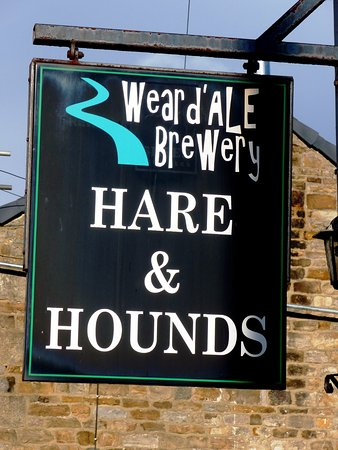 The pub sign with a pun in the title