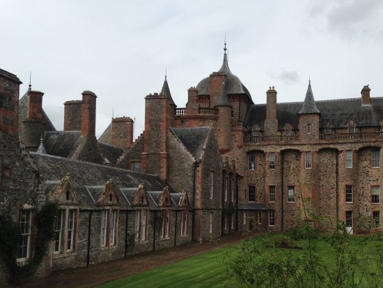 Thirlestane Castle: A rear view of the Castle
