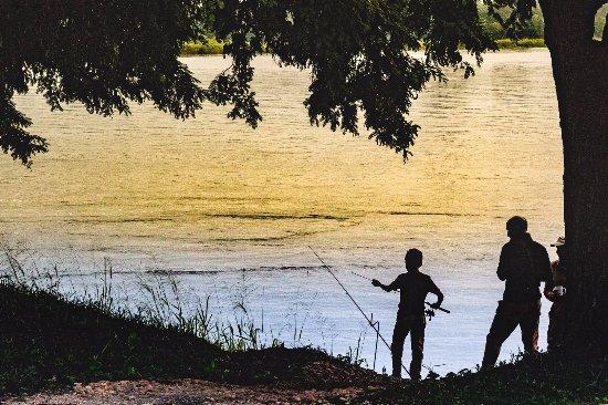 Murchison Falls National Park, Uganda: Early morning Fishing at Murchison river lodge