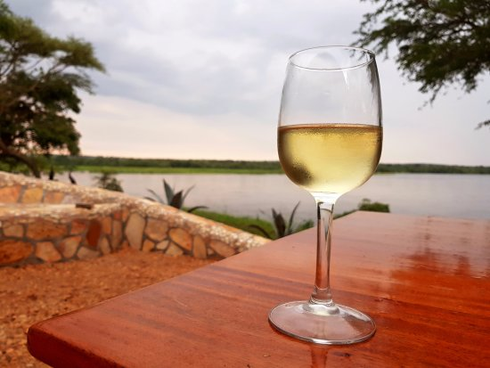 Murchison Falls National Park, Uganda: Sitting on the banks of the Nile enjoying an evening drink