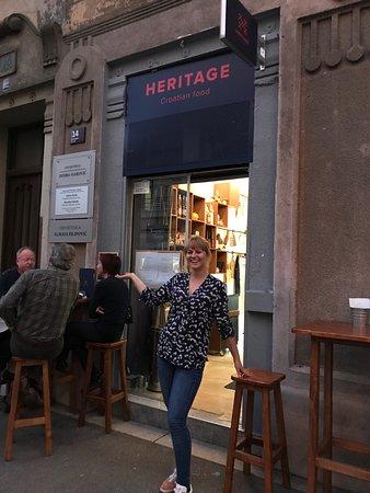 Our Delightful Server Picture Of Heritage I Croatian Food I Snack Bar Zagreb Tripadvisor