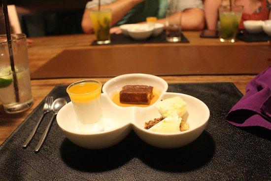Maret, Thailand: Three types of dessert