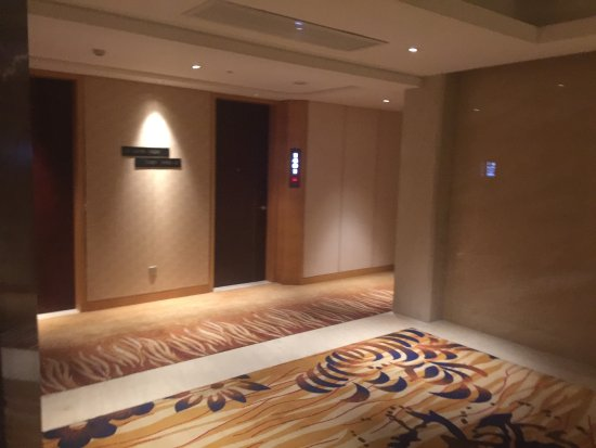 Wuhu, Chiny: Lift lobby at room floor