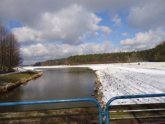 Skierniewice, Poland: Zdjęcie z 25 02.17. Idzie odwilż na całego.Część zalewu już wolna od lodu.