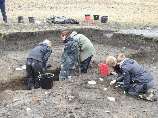 Staffanstorp, Suecia: Ausgrabungen mit Hilfe von Studenten