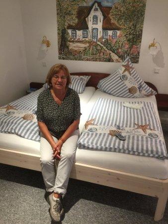 Inselhotel Arfsten : Schlafbereich im großen Zimmer