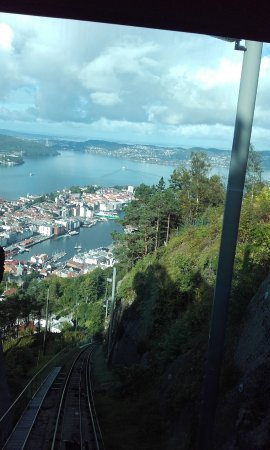 troll riding a goat bergen view from mount floyen picture of mount floyen and the